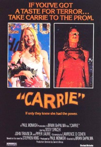 carrie 1976 movie poster