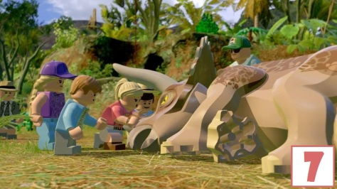 lego jurassic world score